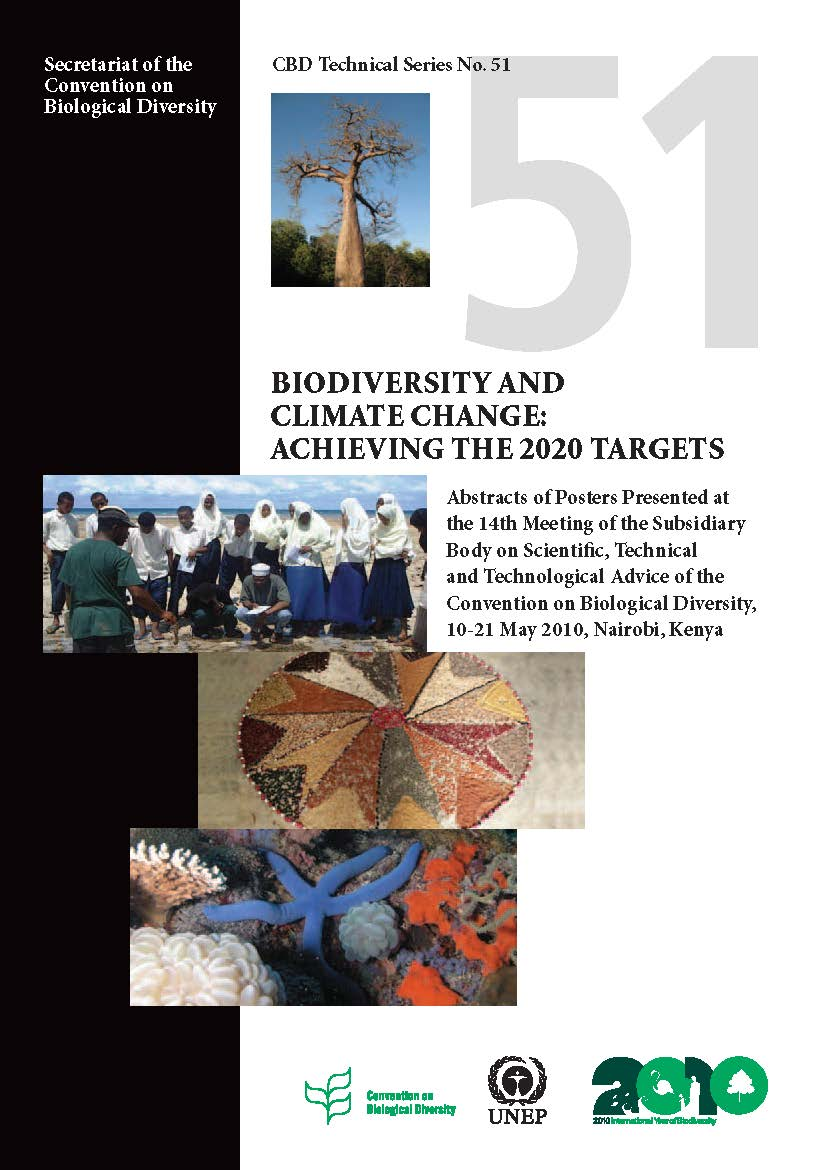 Capa da Biodiversity and Climate Change: Achieving the 2020 Targets