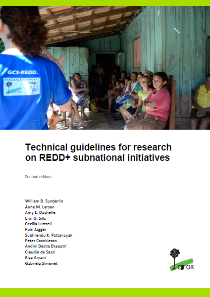 Capa da Technical guidelines for research on REDD+ subnational initiatives
