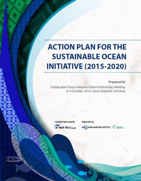 Capa da Action plan for the sustainable ocean initiative (2015-2020)