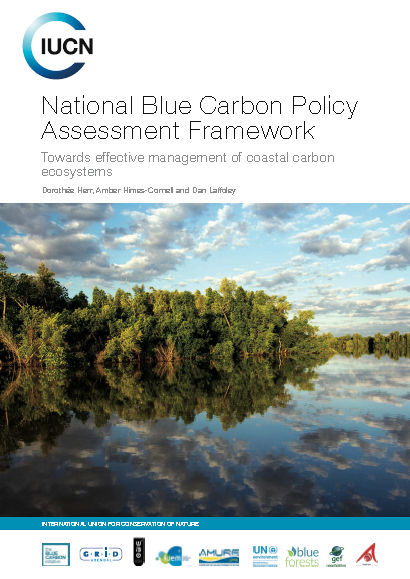 Capa da National Blue Carbon Policy Assessment Framework - Towards effective management of coastal carbon ecosystems