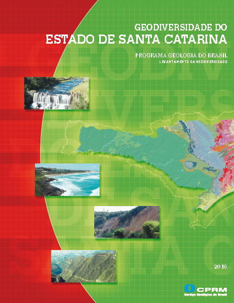 Capa da Geodiversidade do Estado de Santa Catarina