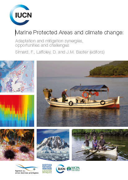 Capa da Marine Protected Areas and climate change: Adaptation and mitigation synergies, opportunities and challenges